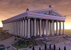 El templo de Artemisa en Efeso Construido hacia 550 a. C. y destruido por un incendio intencionado en 356 a. C., Alejandro Magno ordenó su reconstrucción, culminada tras su muerte en el año 323 a. C. Este nuevo templo, que debe ser considerado como el incluido dentro de la lista de las maravillas, fue destruido a su vez por los godos durante un saqueo en el año 262.