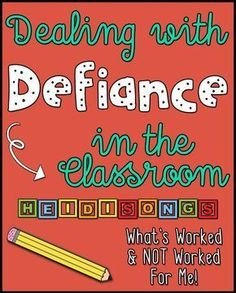 Dealing with Defiance in the Classroom: Tips, suggestions, & simple adjustments that can make a big difference. #classroommanagement