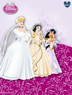 Princess Brides - Cinderella, Snow White & Jasmine
