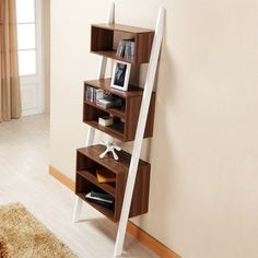 Two-Tone Leaning Bookcase - Best Sellers Collection - Dot & Bo