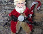 must be santa chenille christmas ornaments spiritroom on etsy