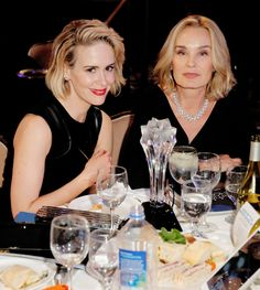 """""""Sarah Paulson and Jessica Lange attend the 5th Annual Critics' Choice Television Awards at The Beverly Hilton Hotel on May 31, 2015 in Beverly Hills, California. """""""