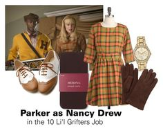 """""""Parker as Nancy Drew"""" by leclairedelune ❤ liked on Polyvore featuring Merona, Citizen, John Lewis, nancydrew, leverage, Parker and closetcosplay"""