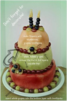 Fresh fruit cake Recipe Cake Fruit cakes and Birthday cakes