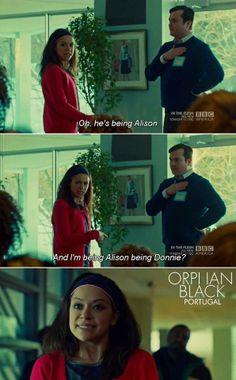 Sarah As Alison Being Donnie // Bahaha!  // Tatiana Maslany // Orphan Black