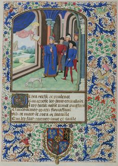 Miniatures from Christine Pizan's 'Épître d'Othéa' (Epistle to Hector; sometimes known as the Book of Knighthood) #medieval #manuscript