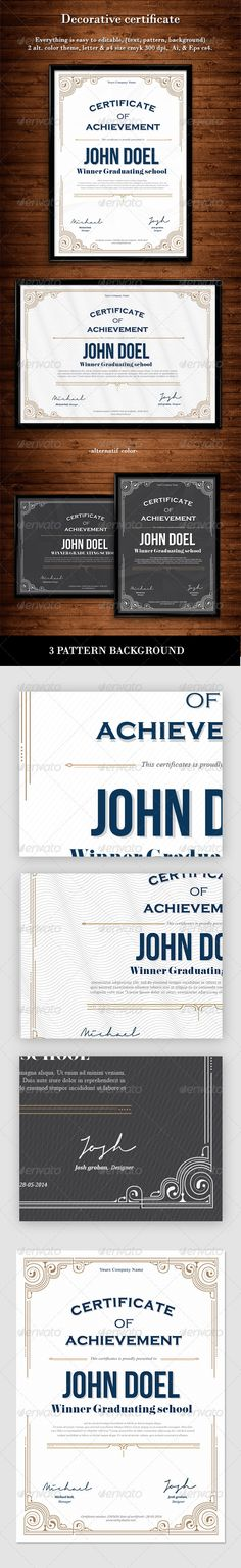 Decorative Certificate  #graphicriver