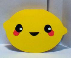 Handmade Kawaii Lemon Card  Cardstock by justcreativecards on Etsy, $3.50