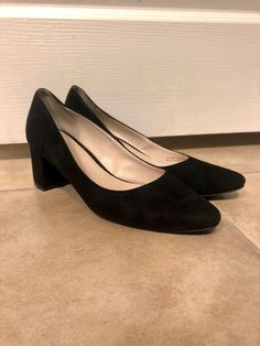 4d6f92ba09 Cole Haan Justine Pump 55mm Black Suede Women's Size 7 #fashion #clothing # shoes #accessories #womensshoes #heels (ebay link)