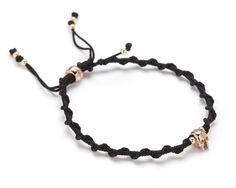 KG x Black Dakini Braided Skull Bracelet