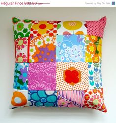 JANUARY SALE Vintage Patchwork Pillow / by madebylisajane