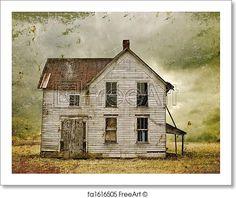 West Texas Landscape Photograph, Quanah Texas Abandoned ...