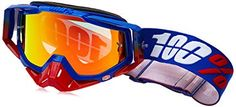 100% 50110-187-02 Unisex-Adult Republic Racecraft MX Motocross Goggles With Mirrored Lens (Blue/Red,One Size Fits Most) Review