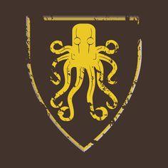 Awesome 'Gold+Kraken+Cracked+Sigil' design on TeePublic!