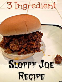 Easy sloppy joe recipe that your whole family will enjoy. Use just 3 ingredients… Easy sloppy joe recipe that your whole family will enjoy. Use just 3 ingredients for a tangy yet sweet meal! Healthy and inexpensive. Sloppy Joe Recipe No Ketchup, Easy Sloppy Joe Recipe With Ketchup, Sloppy Joe Recipe Brown Sugar, Sloppy Joe Seasoning Recipe, Homemade Sloppy Joes, Easy Sloppy Joes, Homemade Sloppy Joe Recipe, Manwich Sloppy Joe, Hamburgers