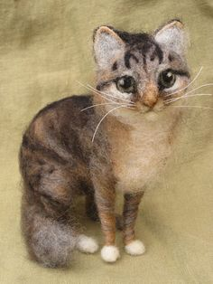 Needle felted cat custom portrait of your pet by Ainigmati on Etsy, $180.00