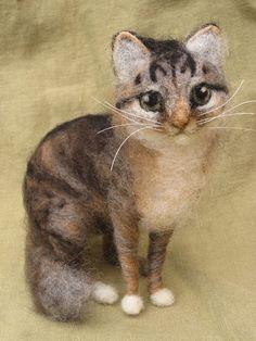 Nadel Gefilzte Katze benutzerdefinierte Portrait von von Ainigmati