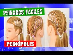 Peinados con Cintas  Trenzas para Niñas Faciles y Rapidas - YouTube