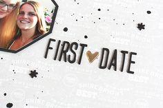 First Date - Layout mit dem Mai Kit der Scrapbook Werkstatt by Nikki Sweet Caterpillar