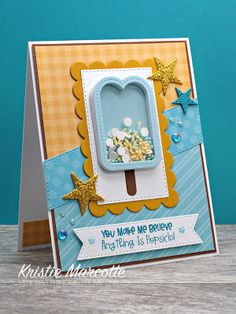 I couldn't wait to get started on Queen & Company's brand new Sweet Shop kit . It is an adorable sweet treat themed kit. Card Kit, Card Tags, Sweet Sundays, Beach Cards, Kids Birthday Cards, Shaker Cards, Craft Box, Card Sketches, Queen