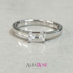east/west emerald cut ring See more of their stunning engagement and wedding rings at the Wedding Fair at Bluewater - next weekend! Emerald Cut Diamond Engagement Ring, Emerald Cut Rings, Diamond Rings, Diamond Cuts, Jewelry Box, Jewelery, Jewelry Accessories, Jewelry Design, Diamond Are A Girls Best Friend