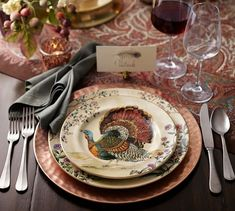 Beautiful Thanksgiving table ideas from Pottery Barn.These finds are all from Pottery Barn and look a lot more expensive than they are. Thanksgiving Dinner Plates, Thanksgiving Parties, Thanksgiving Tablescapes, Thanksgiving Decorations, Thanksgiving Ideas, Fall Decorations, Dinner Plate Sets, Dinner Table, Pumpkin Salad