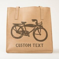 #Old bicycle custom design tote - #cycling #gifts