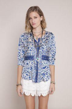 INDIGO GIRL · Shirt | Summer | Fashion | Camisa Lago