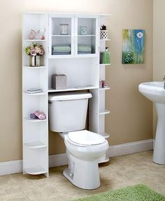 Large Space Saving Over the Toilet Bathroom Storage Cabinet Wall Mounted