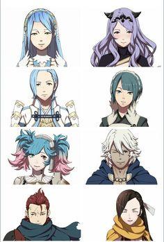 Azura- Camilla- Shigure- Setsuna- Peri- Niles- Saizo- Kagero.