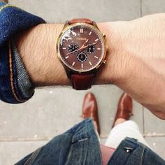 @Brothers and Craft are outside and enjoying a NYC spring day with their vintage Fossil watch. #fossilstyle #brothersandcraft
