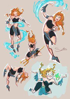 Doodleblog of Samantha Dodge — My interpretation of an Aqua Man crossover. Also,...