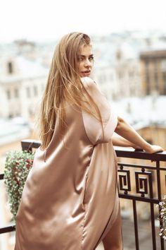Luxury Silk Robe Kimono Long #silk #robe #loungewear #lingerie #home #wear