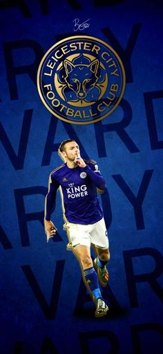 A phone wallpaper of Leicester City's Jamie Vardy Leicester City Fc Wallpaper, Leicester City Football, James Maddison, Jamie Vardy, English Football League, English Premier League, Sports Wallpapers, Football Wallpaper, Display