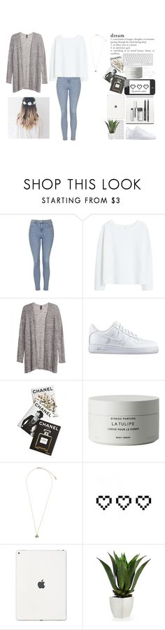 """""""Wonderfull white"""" by pernille-sophie ❤ liked on Polyvore featuring Topshop, MANGO, H&M, NIKE, Assouline Publishing, Byredo, Retrò and Bobbi Brown Cosmetics"""