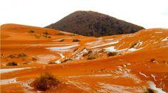 22 décembre 2016, les dunes du Sahara sous la neige pour la première fois depuis trente-sept ans