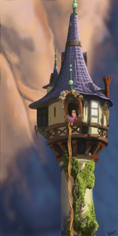 Rapunzel's Tower by ~squirrely-chan on deviantART
