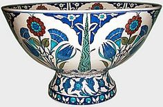 Klasik İznik Çinileri Ottoman Classics Nicea Pottery & Tiles Plates Islamic Tiles, Glazed Tiles, Turkish Tiles, Islamic World, Tile Art, Textile Patterns, Earthenware, Ceramic Art, Ottoman