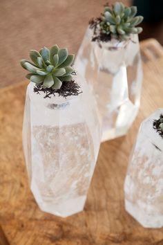 creative crystal vase