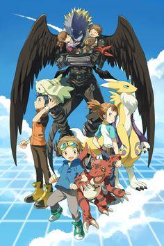 Artist: Pixiv Id 6620471 |  Digimon Tamers | Ai | Beelzemon | Guilmon |  Li Jianliang (Henry) | Makino Ruki | Mako | Matsuda Takato | Renamon | Terriermon