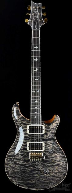 PRS Custom 24 30th Anniversary Wood Library Charcoal 10 Top with Private Stock Neck