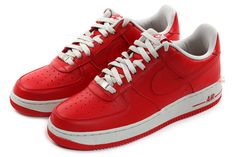 lowest price dce2e 06193 HS Shoes II Anziehen, Nike Air Force, Rote Turnschuhe, Leuchtende Farben,  Hypebeast