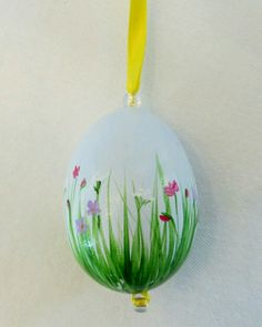 Huevo pintado a mano. Vía Pinterest