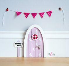 Personalised fairy door black swan miniature , pretend play , gift ...