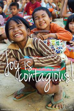 Spread the joy and click on the picture to see how Operation Christmas Child is GIVING this joy to children!