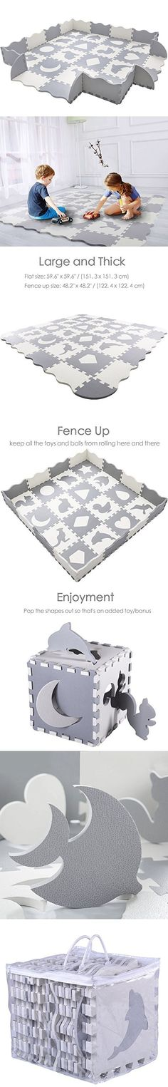 """Baby Play Mat with Fence 