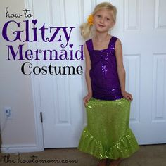 The How To Mom: glitzy mermaid costume (part 1)