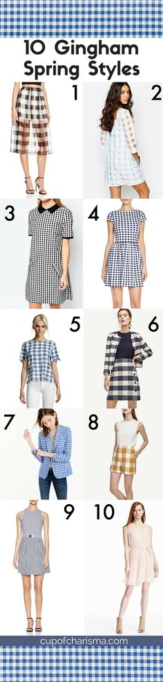 spring is in the air and gingham is everywhere im a tad obsessed with gingham print this season check out my favorite pieces to add to a spring wardrobe