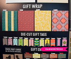 Image above: Can't wait to play with mixing and matching the gift wrap from Hammerpress