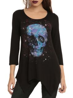 Skull Space Girls Top | Hot Topic